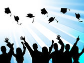 Education Graduation Means Educate Study And Tutoring — Stock Photo