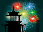 Pagoda Silhouette Means Tower Shrine And Asian — Stock Photo