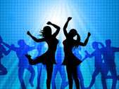 Women Dancing Represents Disco Music And Adults — Stock Photo