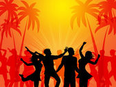 Tropical Island Represents Coconut Palm And Beach — Stock Photo