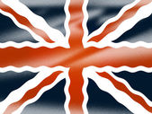 Union Jack Shows National Flag And Britain — Stock Photo