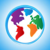 Globe Background Indicates Earth World And Template — Stock Photo