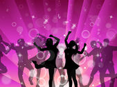 Disco Women Indicates Dance Discotheque And Female — Stock Photo