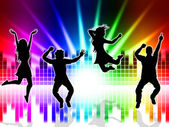 Music Excitement Indicates Sound Track And Dancing — Stock Photo