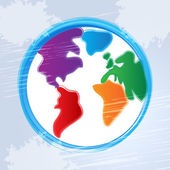 Globe Background Represents World Worldwide And Backdrop — Stock Photo