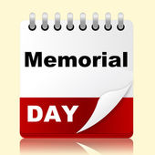 Memorial Day Indicates America Patriotism And Appointment — Stock Photo