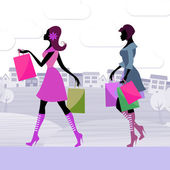 Shopper Women Means Retail Sales And Adults — Stock Photo