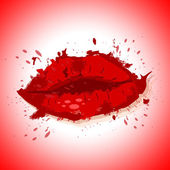Lips Beauty Shows Good Looking And Beautiful — Stock Photo