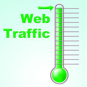 Web Traffic Shows Fahrenheit Thermometer And Celsius — Stock Photo