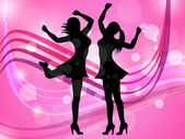 Disco Women Means Adult Dancing And Celebration — Stock Photo