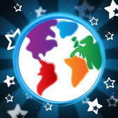 Background Globe Indicates Globalisation Backdrop And Abstract — Stock Photo