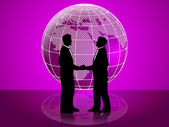 Partnership Globe Represents Working Together And Cooperation — Stock Photo