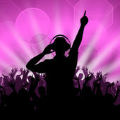Dj Disco Shows Entertainment Celebration And Dancing — Stock Photo