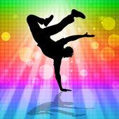 Break dans, hip hop anlamına gelir ve dans — Stok fotoğraf