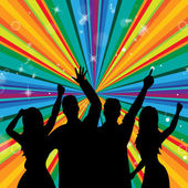 Disco Dancing Indicates Discotheque Joy And Parties — Stock Photo