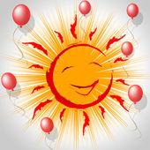 Joy Smile Represents Fun Smiling And Sun — Foto Stock