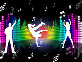 Music Dancing Represents Sound Track And Dance — Stockfoto