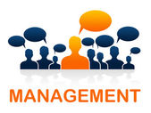 Manage Leader Indicates Authority Directors And Bosses — Stok fotoğraf