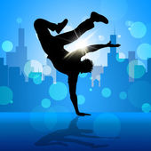 Break Dancer Indicates Street Dancing And Breakdancing — 图库照片