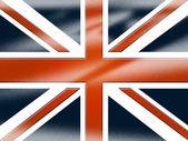 Union Jack Shows United Kingdom And Britain — Foto Stock