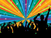Dancing Disco Indicates Radiance Beam And Cheerful — Stock Photo