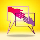 Hand in Hand zeigt alle Recht und o.k. — Stockfoto