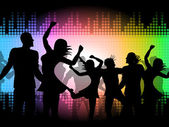 Party Disco Shows Celebrations Fun And Discotheque — Stock Photo