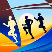 Exercise Jogging Represents Get Fit And Jogger — Стоковое фото