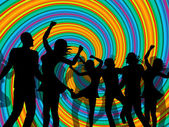 Disco Party Represents Discotheque Dancing And Nightclub — Stock Photo