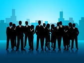 Business People Represents Cooperation Corporate And Meeting — Stock Photo
