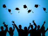 Education Graduation Indicates Degree Ceremony And Finishing — Stock Photo