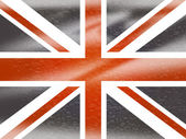 Union Jack Means English Flag And England — Foto Stock