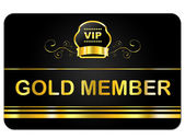 Gold Member Shows Very Important Person And Card — Stock Photo
