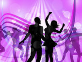 Disco Dancing Represents Parties Discotheque And Cheerful — Stock Photo