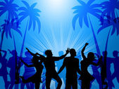 Tropical Island Represents Disco Dancing And Atoll — Stock Photo