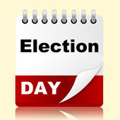 Election Day Indicates Month Poll And Appointment — Stock Photo