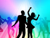 Disco Party Means Parties Joy And Nightclub — Stock Photo