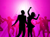 Disco Dancing Means Parties Celebrations And Fun — Stock Photo