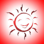Background Sun Indicates Smiling Design And Sunlight — Foto Stock