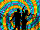 Disco Dancing Indicates Dancer Music And Discotheque — Stock Photo