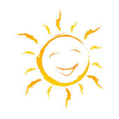 Smiling Background Shows Solar Cheerful And Joy — Foto Stock