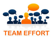 Team Effort Shows Togetherness Agreement And Together — Stock Photo