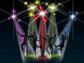 Spotlight Joy Represents Stage Lights And Active — Stock Photo