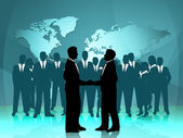 Partnership World Means Work Together And Cooperation — Stock Photo