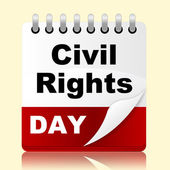 Civil Rights Day Means Slavery Plan And Reminder — Stock Photo
