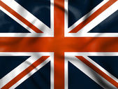 Union Jack Means English Flag And Britain — Stock Photo