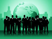 Business People Shows Professionals Planet And Worldly — Stock Photo