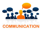 Communication Team Represents Group Communicate And Conversation — Stock Photo