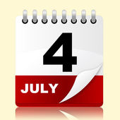 Fourth July Represents Planning Reminder And Month — Stock Photo