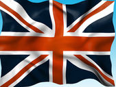 Union Jack Means British Flag And Country — Stock Photo